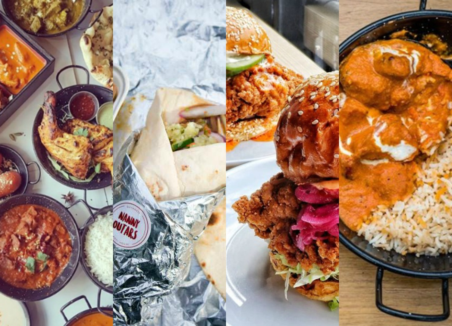 An assortment of the food available in and around Croydon