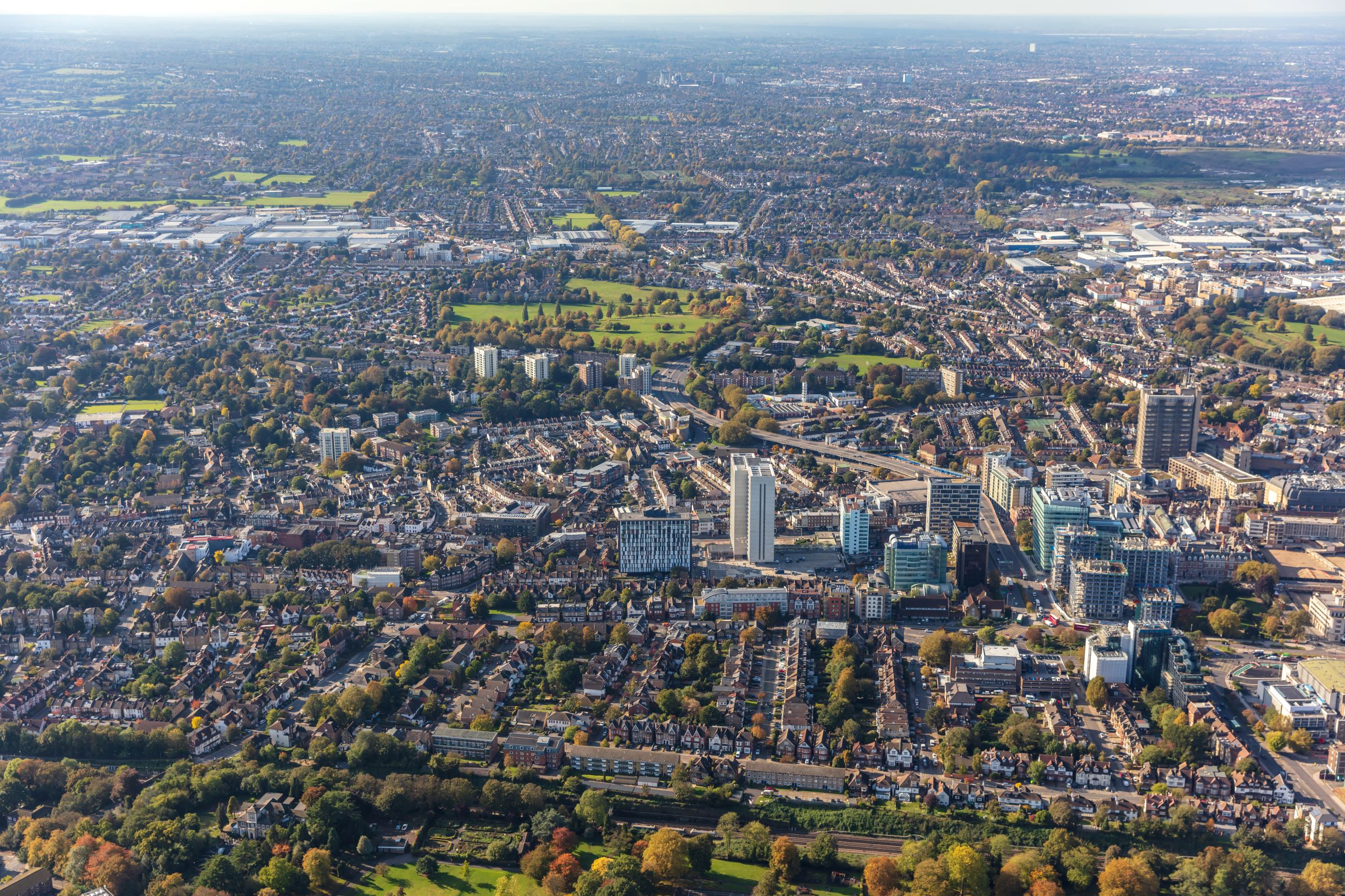 View of dev3elopment and parks in Croydon